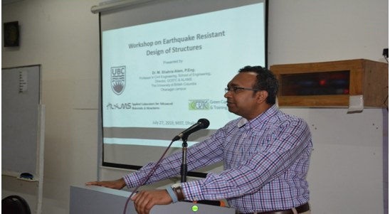 Workshop on Earthquake Resistant Design of Structures 2019