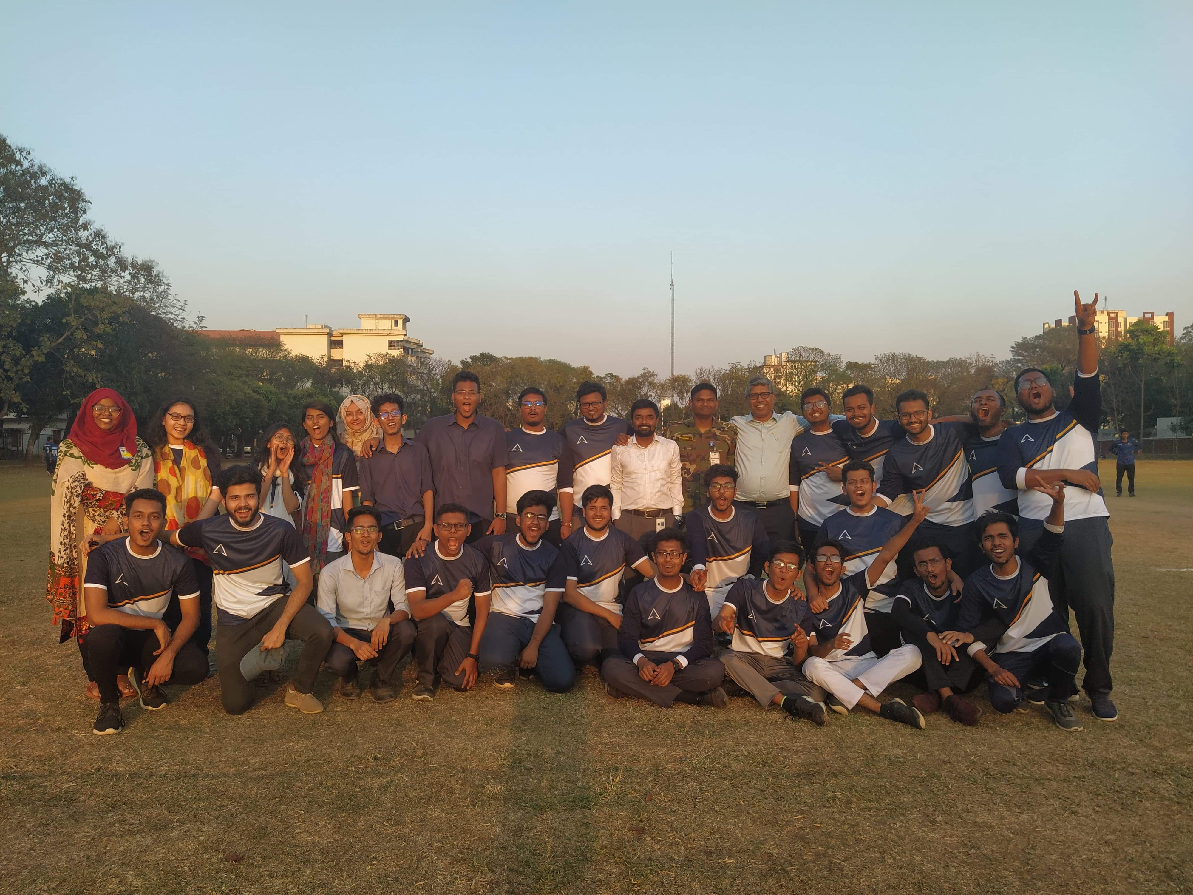 Student of Architecture Department took part in the MIST-Inter Dept. Cricket Tournament 2020