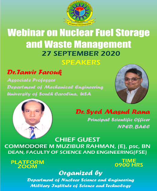 Webinar on Nuclear Fuel Storage and Waste Management