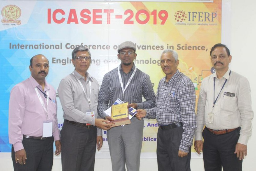 BEST PAPER AWARD IN ICASET CONFERENCE